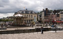 Street in the  Honfleur Stock Photos