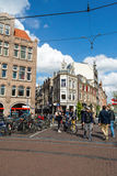 Street with the house in Amsterdam Royalty Free Stock Photo