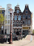 Street and House architecture in Amsterdam Stock Images