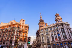Street and houses at Madrid Spain Royalty Free Stock Photos