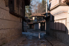 Street and houses in the old town of Koprivshtitsa, Bulgaria Stock Image
