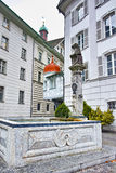 Street and houses in old town, Luzern, Switzerland Royalty Free Stock Photo