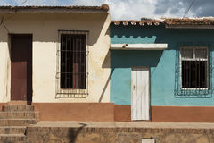 Street houses in residential area in Trinidad, Cuba Royalty Free Stock Photo