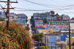 Street and houses in San Francisco Royalty Free Stock Photos