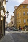 Street in Hradcany - the Prague Area.Czech Royalty Free Stock Photography