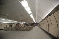 34 Street -Hudson Yards Subway station interior design in NY Royalty Free Stock Images