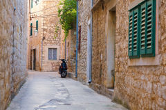 Street in Hvar Stock Photo