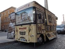Street ice cream cart in Rome stock photo