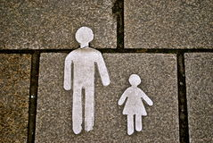 A street icon for walking. Icon or sign in the street for pedestrian Royalty Free Stock Image