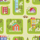 Street illustration seamless pattern 2 Royalty Free Stock Image