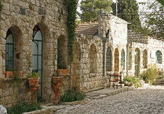 Street In Rosh Pina.Israel Royalty Free Stock Images