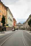 Street in Innsbruck, Austria Royalty Free Stock Images