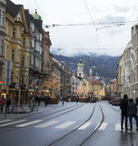 Street of Innsbruck Royalty Free Stock Photo