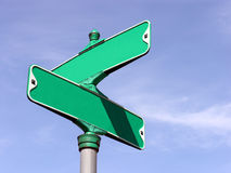 Street Intersection. A blank intersection sign Stock Image