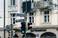Street intersection in Munich Royalty Free Stock Images