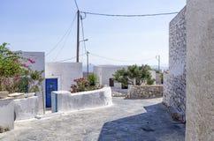 Street in Iraklia island, Greece Stock Image