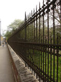 Street iron fence. Old iron fence Royalty Free Stock Photography