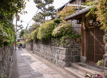A street by Ishibe Koji area. Streets and alleys in Ishibe Koji, an area filled with traditional inns and shops. The undiscovered and lonely part of traditional Stock Image