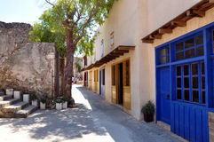 Street on the island of Spinalonga, Greece, Europe Royalty Free Stock Photography