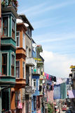 Street in Istanbul. Colorful street in Istanbul, Turkey, with typical houses in Turkish style Stock Photography