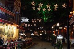 Street in Istanbul at night Royalty Free Stock Photos