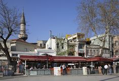 Street in Istanbul town. Turkey Royalty Free Stock Photos