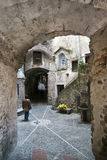 The street in Italian medieval village Stock Images