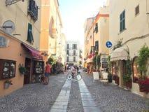 Street in Italy. Street in Alghero Sardegna Italy royalty free stock images