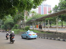 A street in Jakarta Royalty Free Stock Images