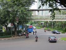 A street in Jakarta Royalty Free Stock Photography