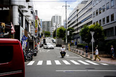 Street of Japan Tokyo. A view on a city.Japan ca Royalty Free Stock Photos