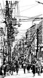 Street in Japan vector illustration