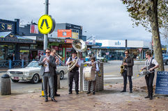 Street Jazz Band performing on Mornington streets Stock Photography