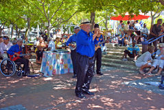 Street jazz, Capetown, South Africa royalty free stock image