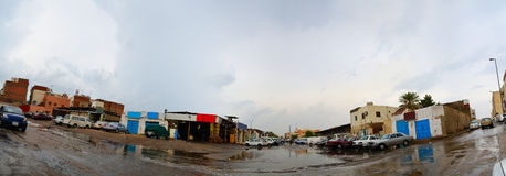 Street in jeddah at afternoon with heavy rain. In saudi arabia Royalty Free Stock Photo
