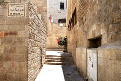 Street in Jerusalem. A street in the old city of Jerusalem Royalty Free Stock Photography