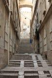 Street of Jerusalem. Narrow street in the old city of Jerusalem, Israel Stock Photo