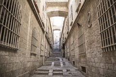 Street in jerusalem old town israel Stock Photos