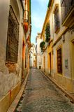 Street of jewish quarter in Cordoba Royalty Free Stock Image