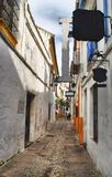 Street of jewish quarter in Cordoba Royalty Free Stock Photo