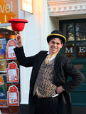 Street Juggler. Royalty Free Stock Photos