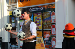 Street Juggler Bedford. Stock Photos