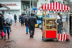 Street of Kadikoy in Istanbul, Turkey Royalty Free Stock Photo