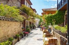 Street in Kaleici district Antalya, Turkey Stock Images