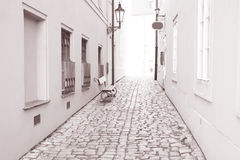 Street in Kampa Island, Prague, Czech Republic Royalty Free Stock Image