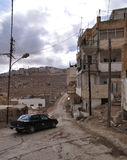Street of Karak village. Karak village street view, Jordan Royalty Free Stock Images