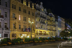 Street in Karlovy Vary, Czech repablic Royalty Free Stock Photography
