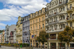 Street in Karlovy Vary, Czech repablic Royalty Free Stock Photos