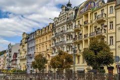 Street in Karlovy Vary, Czech repablic Stock Images