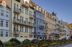 Street in Karlovy Vary, Czech repablic Stock Photo